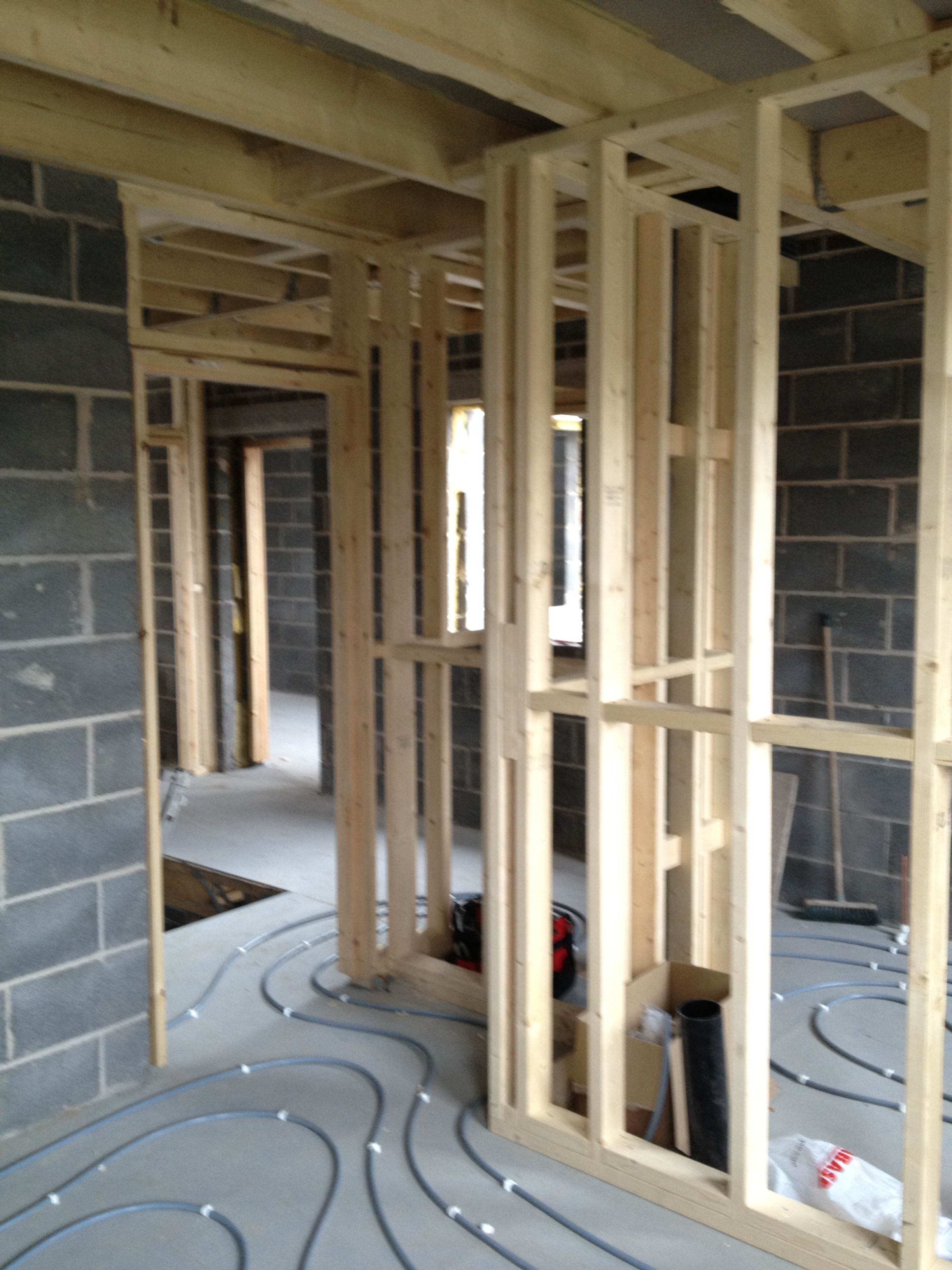 Studwork Amp First Fix Self Build House Nottingham